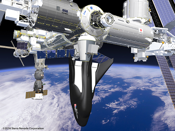 The SNC Dream Chaser at the space station